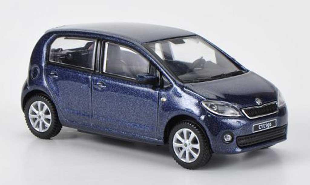 Skoda Citigo 1/43 Abrex bleugrise 5-Turer 2012 miniature