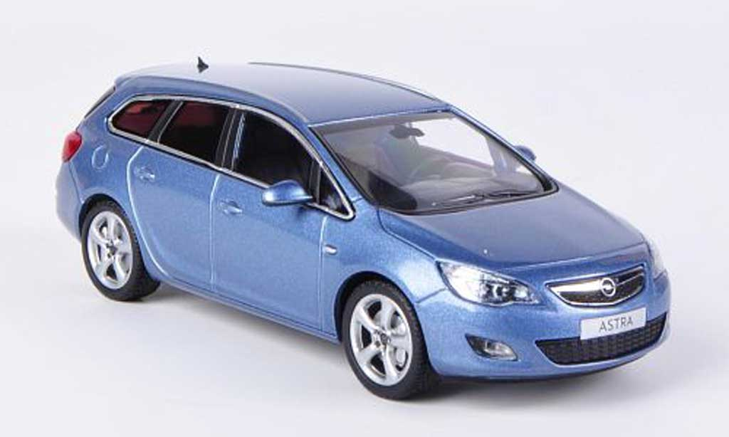 Opel Astra 1/43 Minichamps J Sports Tourer grisebleu 2010 miniature