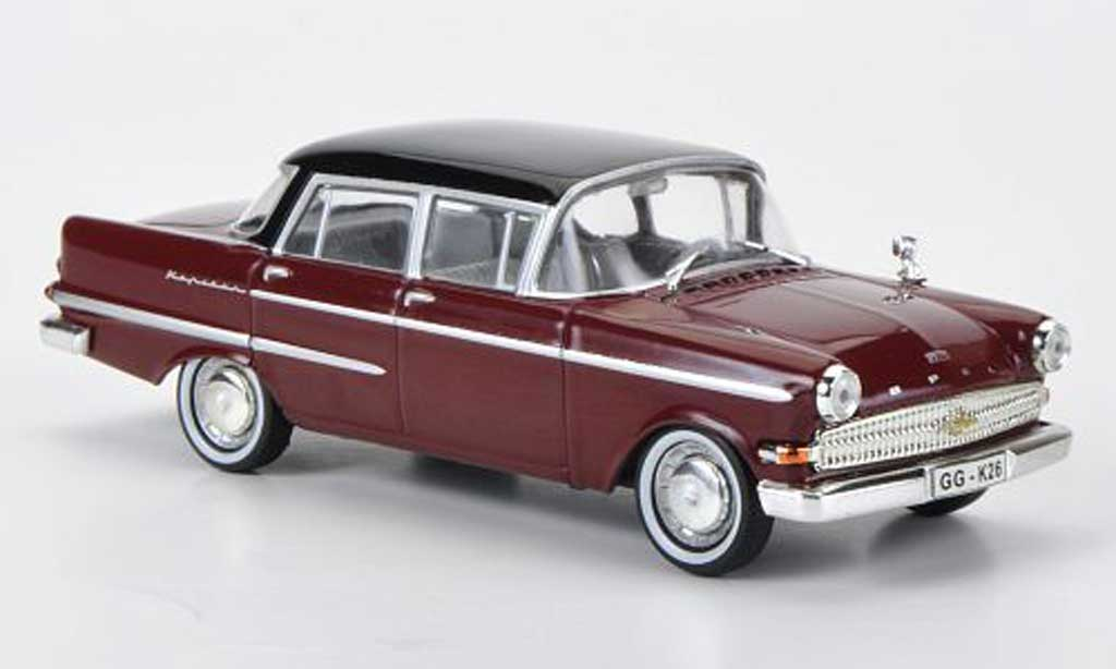 Opel Kapitan 1/43 WhiteBox P2.6 rouge/noire miniature
