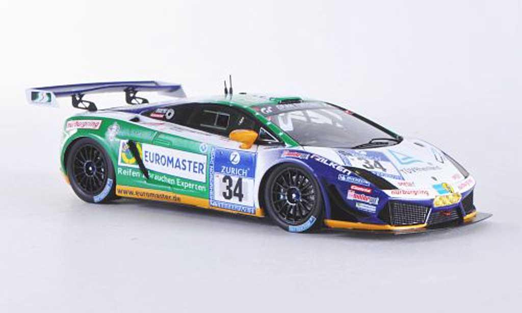 Lamborghini Gallardo LP600-4 1/43 Minichamps No.34 Reiter Engineering 24h Nurburgring 2011 F.Stuck / J.Stuck / H.J.Stuck / D.Rostek