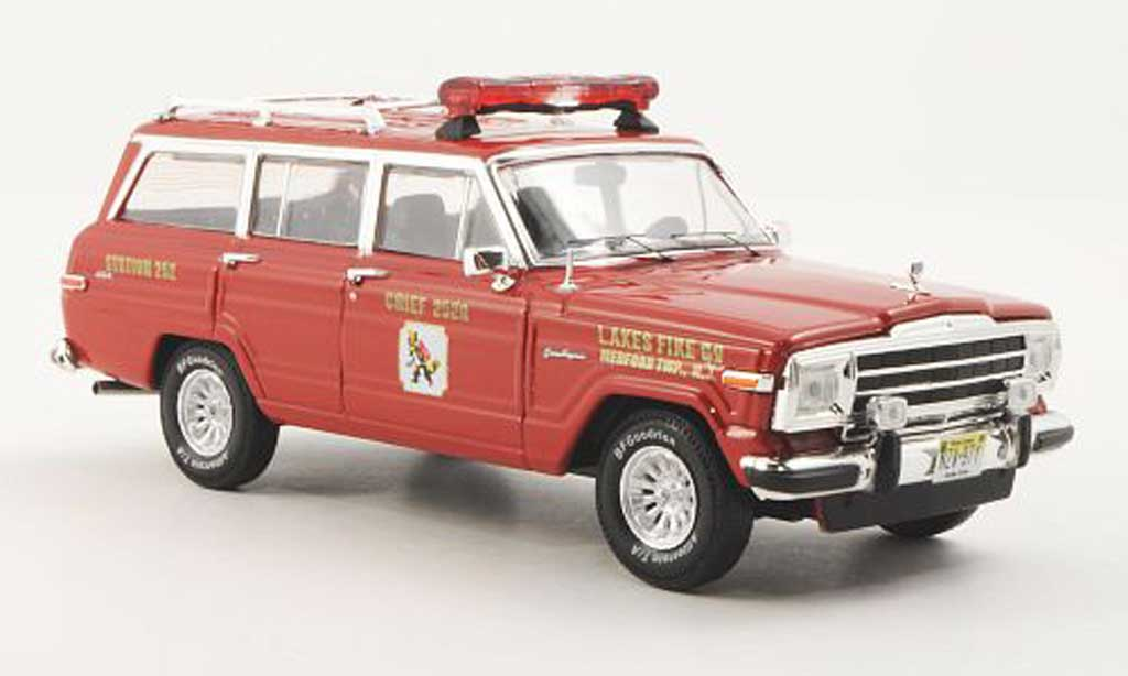 Jeep Wagoneer 1/43 Premium X Lakes Fire rouge 1989 miniature