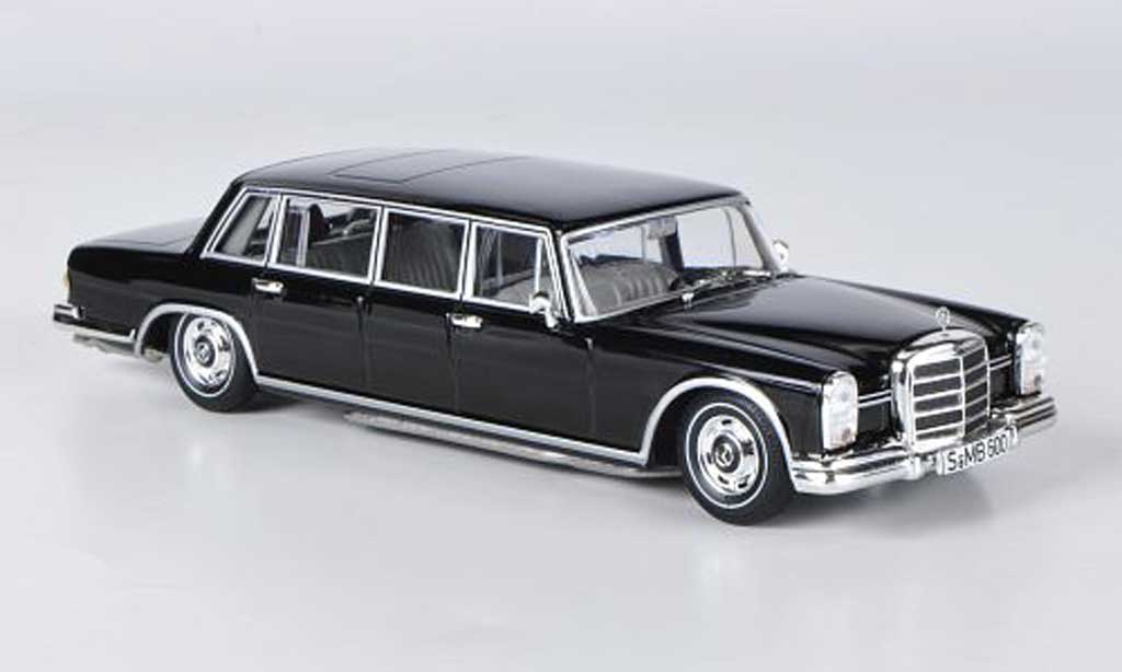 Mercedes 600 1/43 WhiteBox Pullman noire 1963 miniature