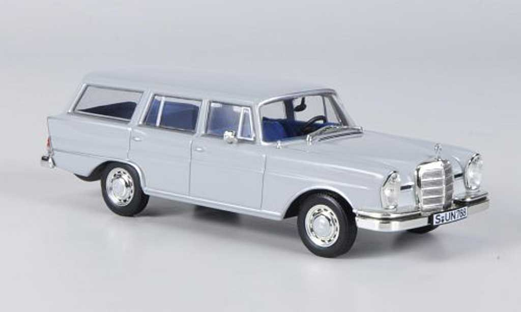 Mercedes 230 S 1/43 WhiteBox S Universal grise 1967 miniature