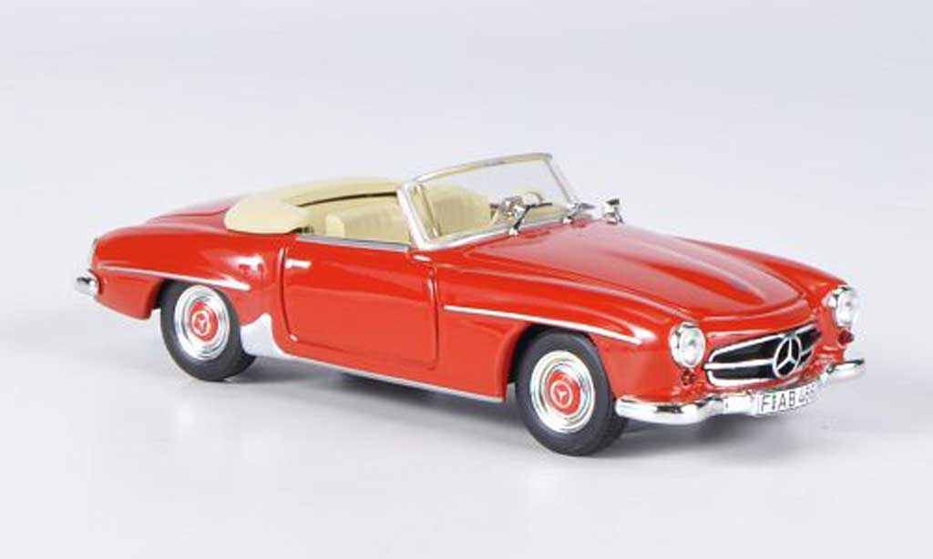 Mercedes 190 SL 1/43 WhiteBox rouge 1955 miniature