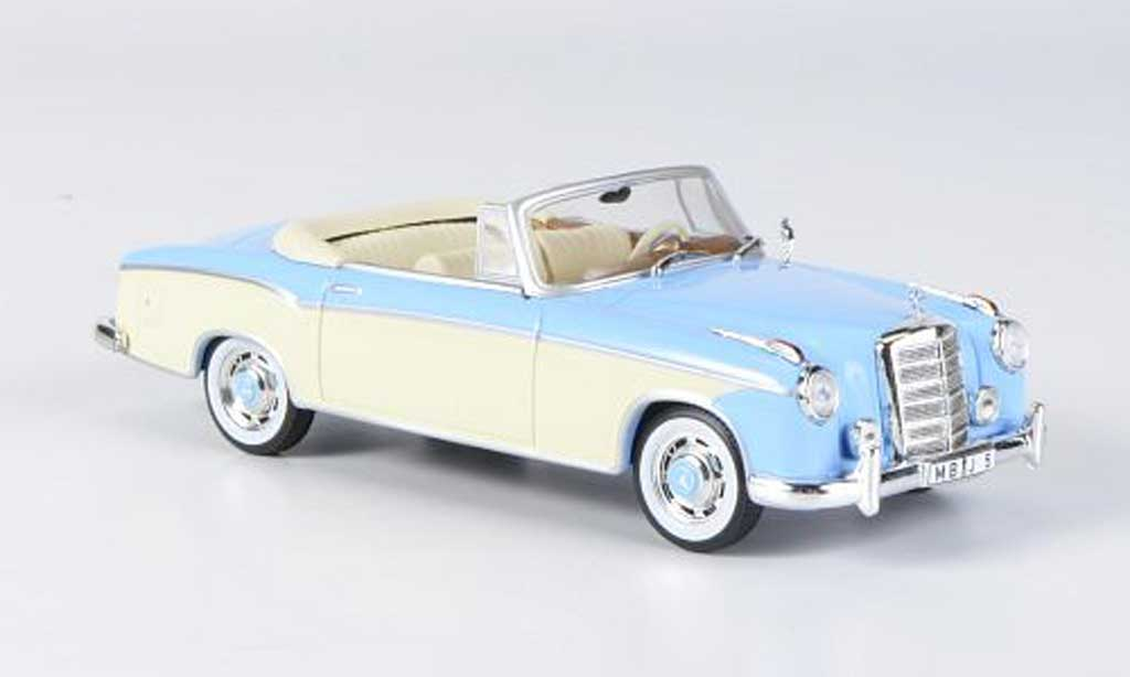 Mercedes 220 SE 1/43 WhiteBox Cabriolet bleu/beige 1958 miniature
