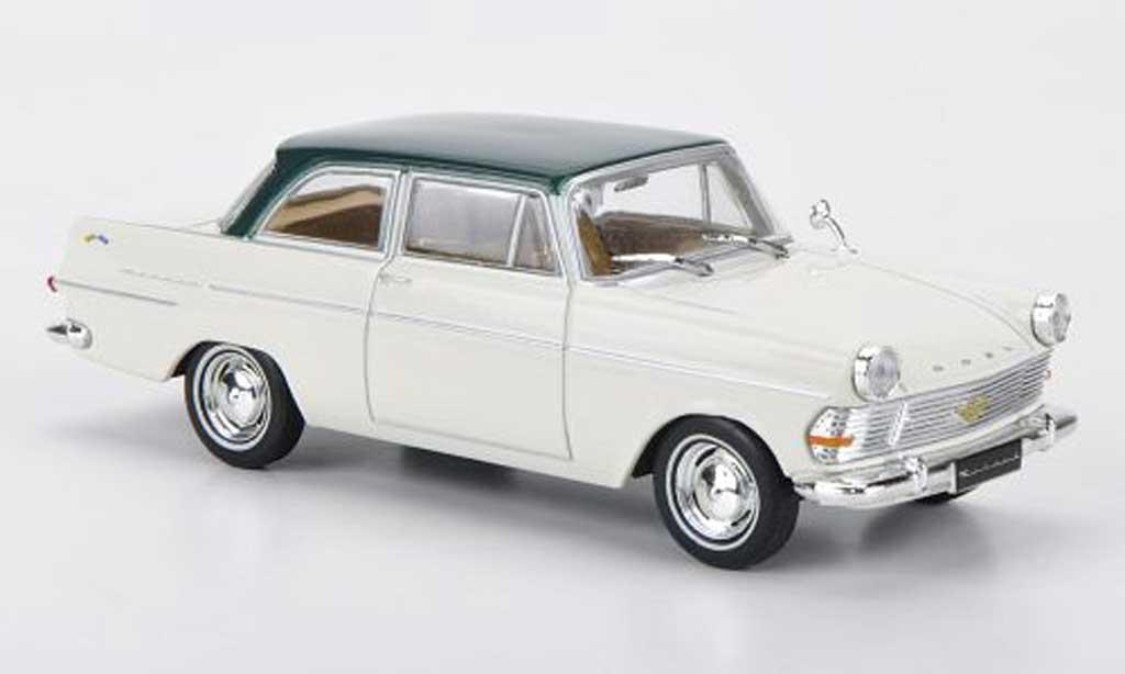 Opel Rekord 1/43 Hachette PII blanche/verte (ohne Magazin) 1960