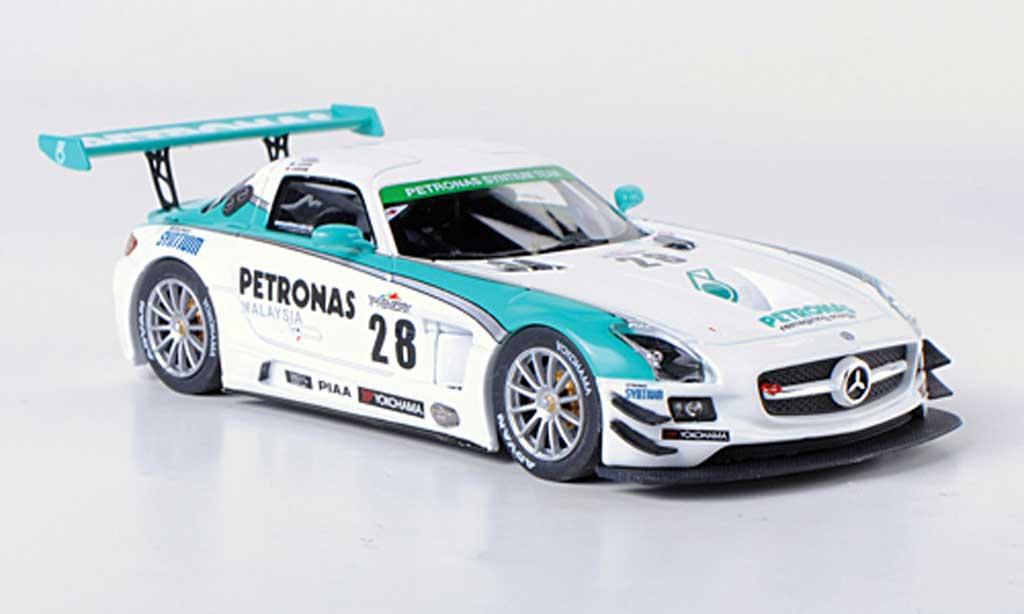 Mercedes SLS 1/43 Ebbro AMG GT3 No.28 Petronas Syntium M.Moh / T.Kataoka / J.Lester / R.Ritchie Super Taikyu 2012 miniature