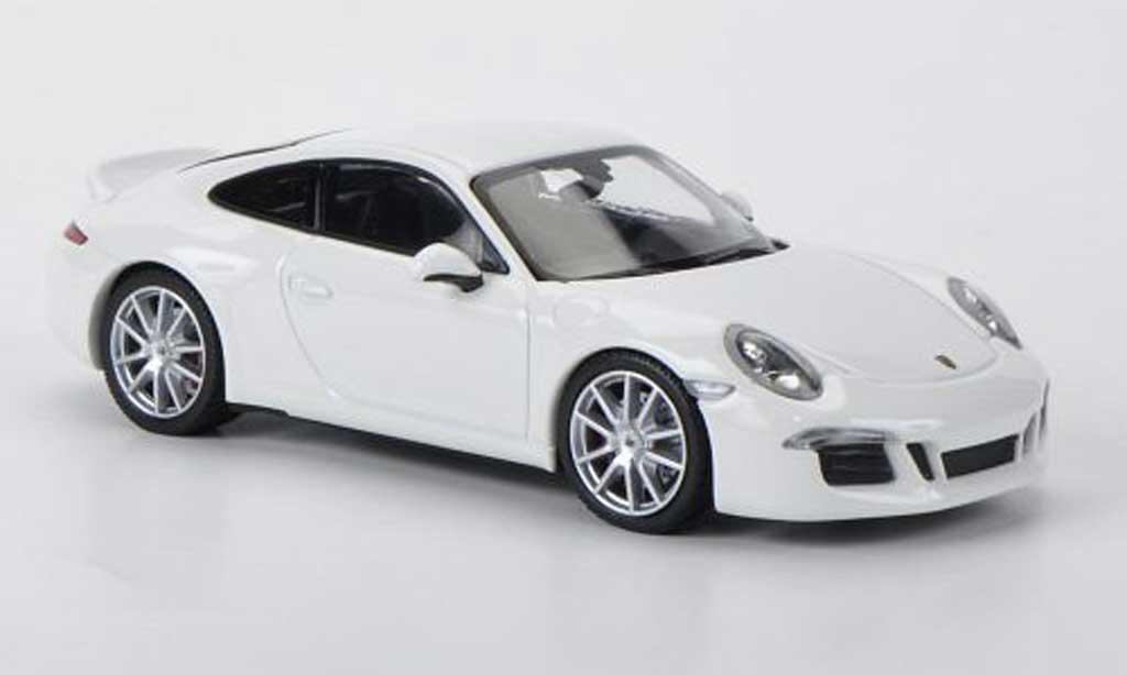 Porsche 991 S 1/43 Minichamps Carrera portDesign blanche 2012 miniature