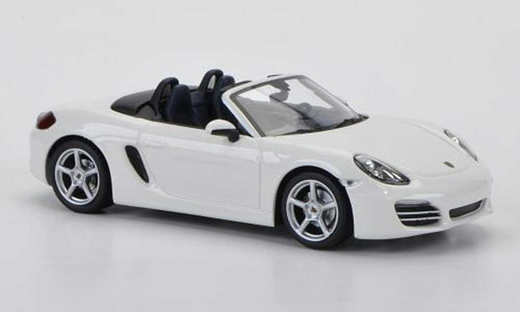 Porsche Boxster 1/43 Minichamps (987) blanche 2012