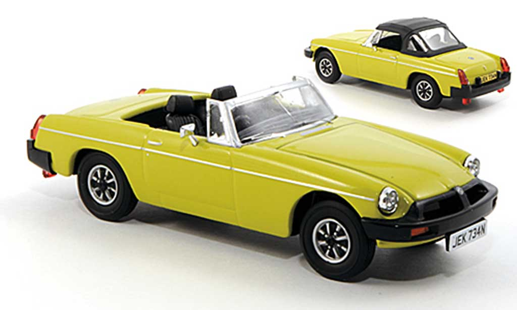 MG B 1/43 Vanguards yellow-grun RHD diecast model cars