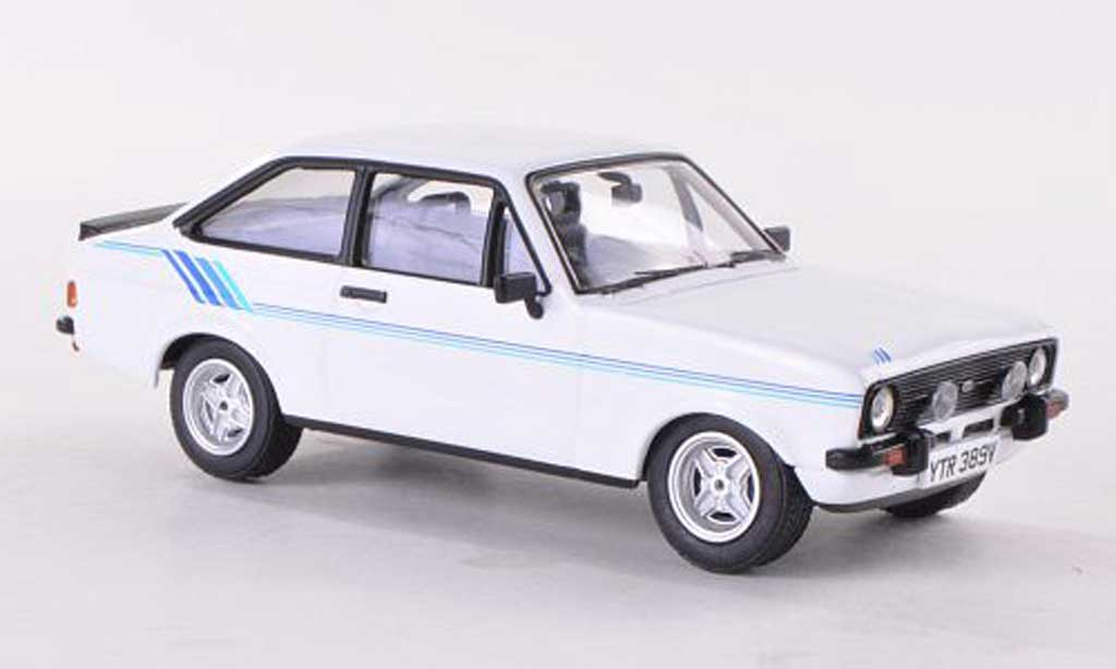 Ford Escort MK2 1/43 Vanguards Harrier white/bleue RHD