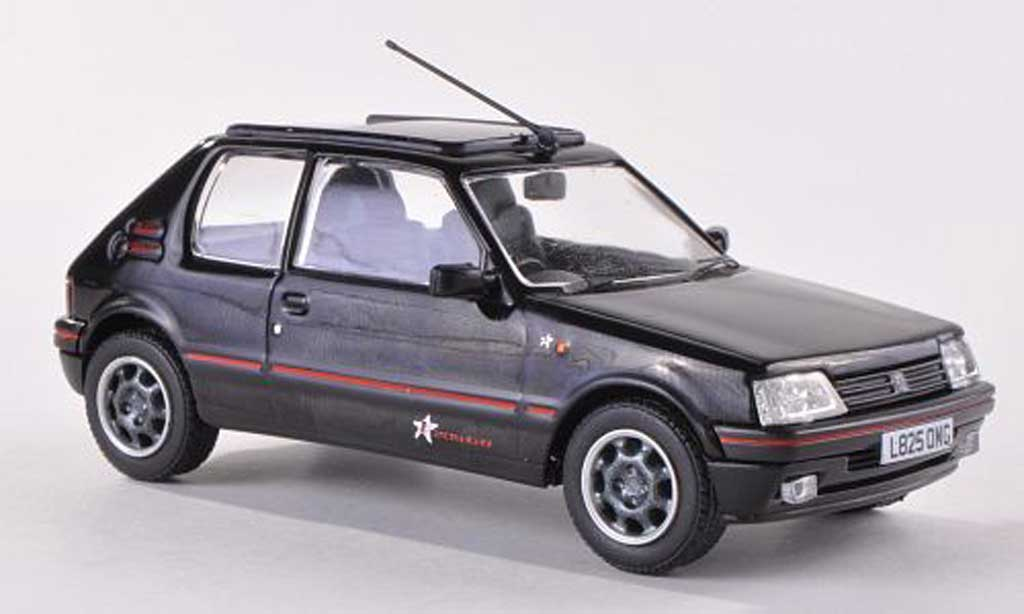 Peugeot 205 GTI 1/43 Vanguards 1.9 Radio 1 L825 OMG black diecast model cars