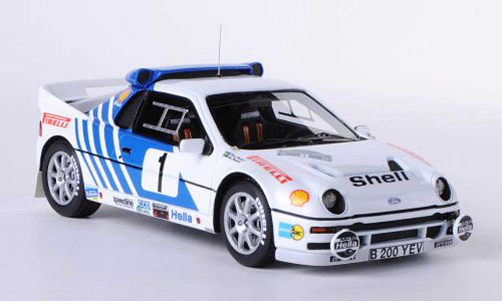 Ford RS 200 1/43 HPI No.1 S.Blomquist / D.Berglund Rally Schweden 1986 miniature