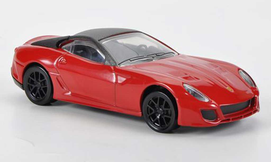 Ferrari 599 GTO 1/43 Hot Wheels rouge miniature