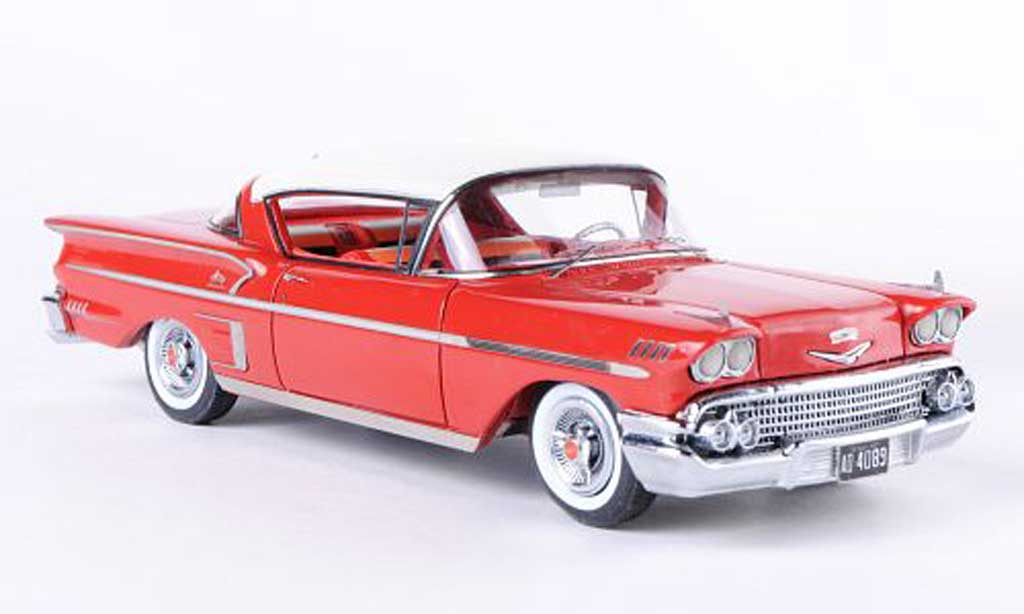 Chevrolet Bel Air 1958 1/43 Neo Impala 2-Door Hardtop Coupe rouge/blanche miniature