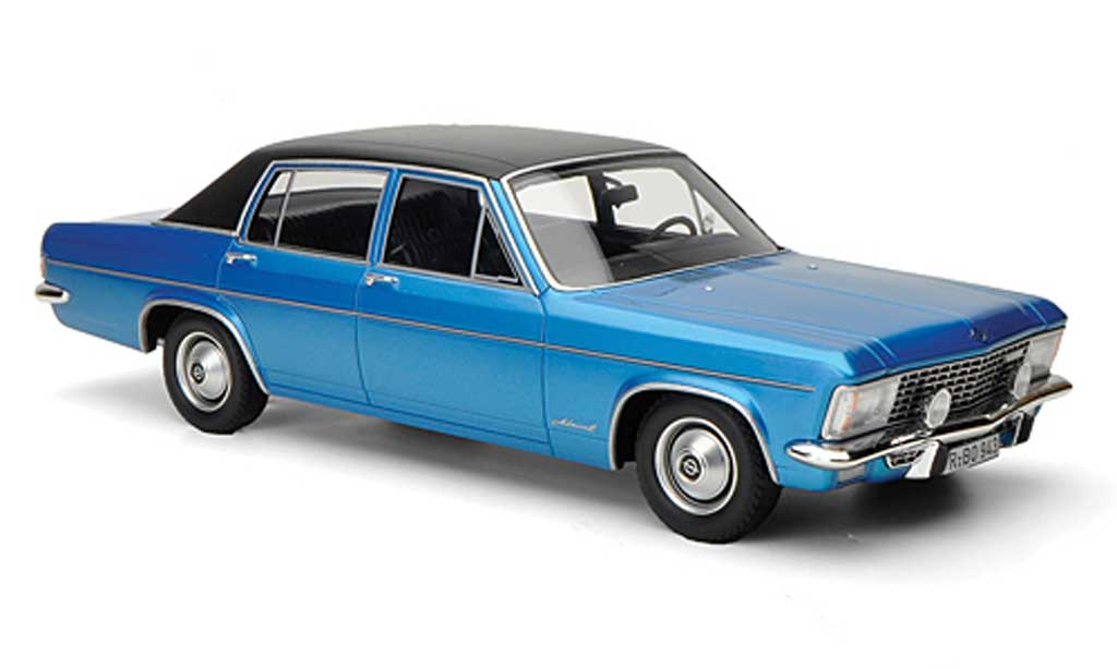 Opel Admiral 1/18 BoS Models B 2800S bleu/noire limitierte Auflage 1.000 1971 miniature