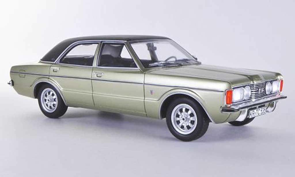 Ford Taunus 1972 1/18 BoS Models TC GXLgrun/noire limitierte Auflage 1.000 Stuck miniature