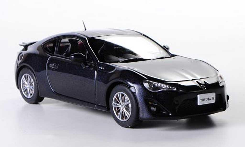 Toyota 86 2012 1/43 Ebbro anthrazit RHD miniature