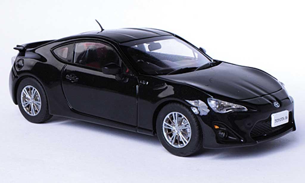 Toyota 86 2012 1/43 Ebbro 2012 noire RHD miniature