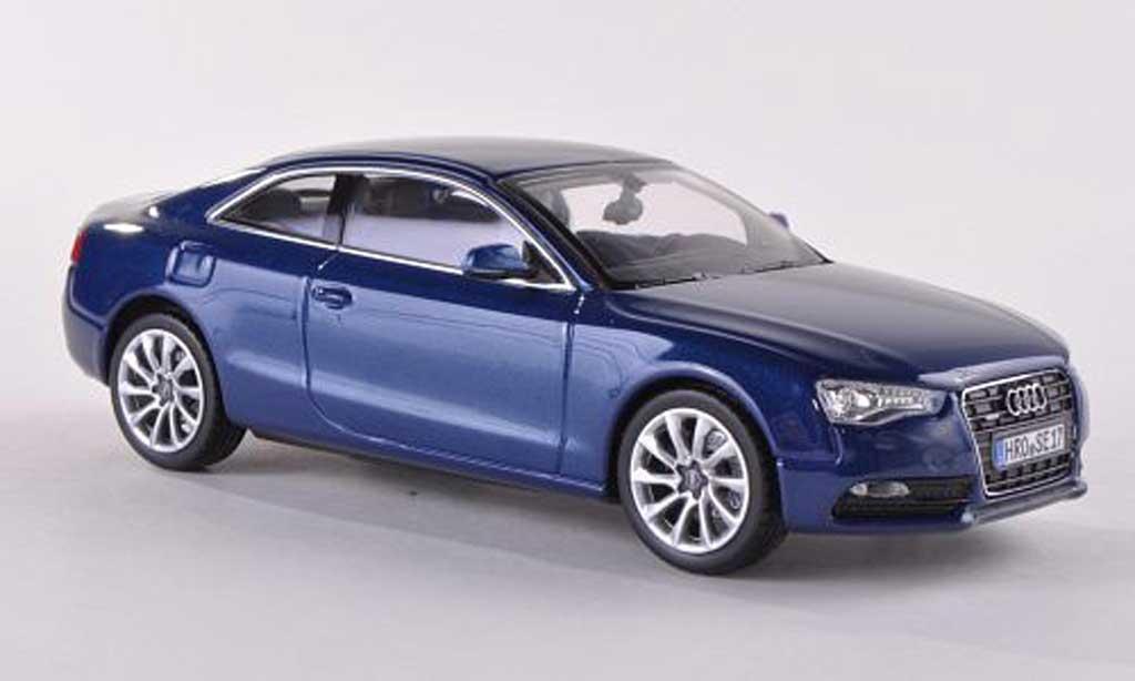 Audi A5 1/43 Norev Coupe bleue  2012 miniature