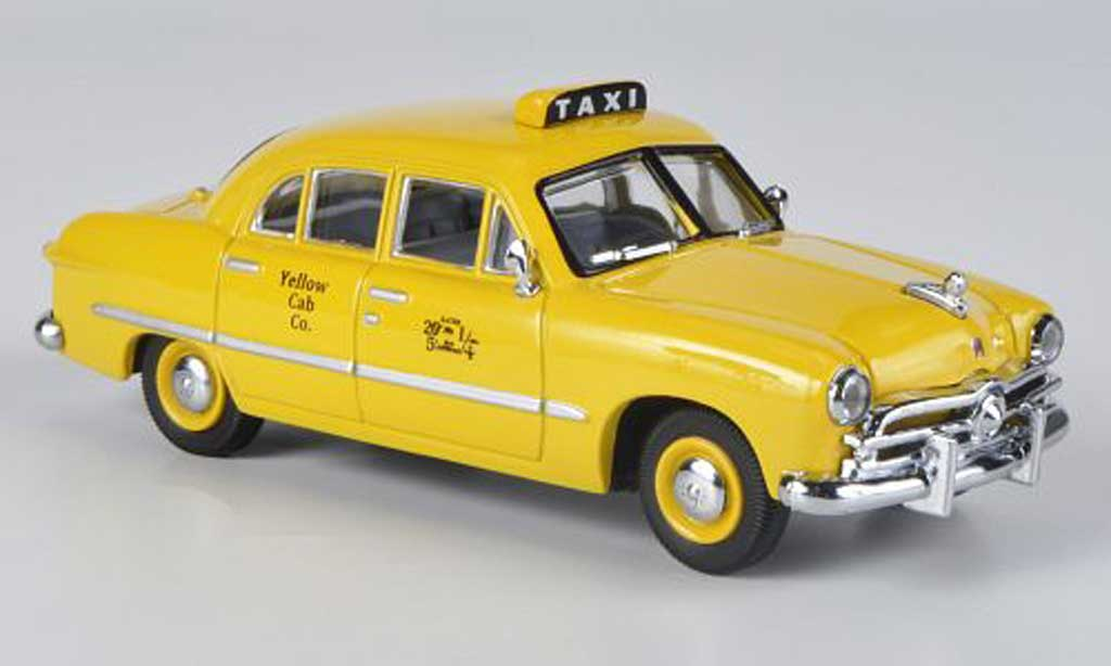 Ford Custom 1949 1/43 American Heritage Models 1949 4-portes Sedan Yellow Cab Co. jaune Taxi miniature