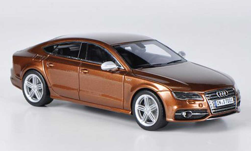 Audi S7 1/43 Schuco Sportback marron 2011 diecast model cars