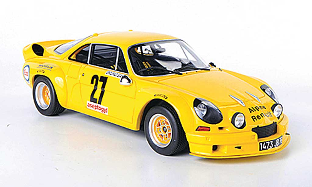 Alpine A110 1/18 Ottomobile 1800S Groupe 5 yellow diecast model cars