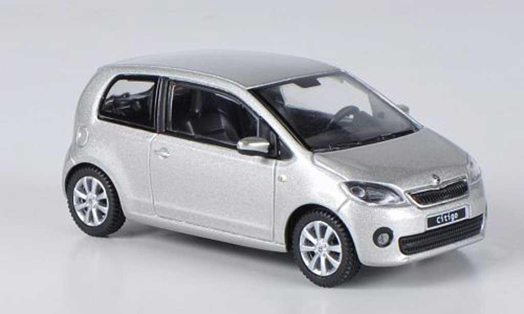 Skoda Citigo 1/43 Abrex grise Leaf 3-portes 2012 miniature