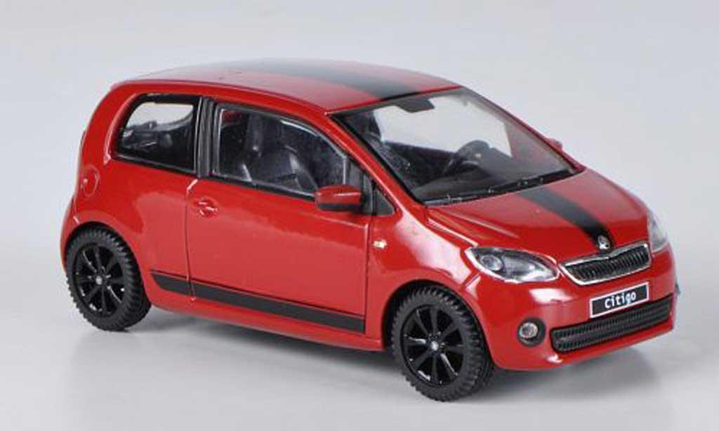 Skoda Citigo 1/43 Abrex rouge Sport Design 3-portes 2012 miniature