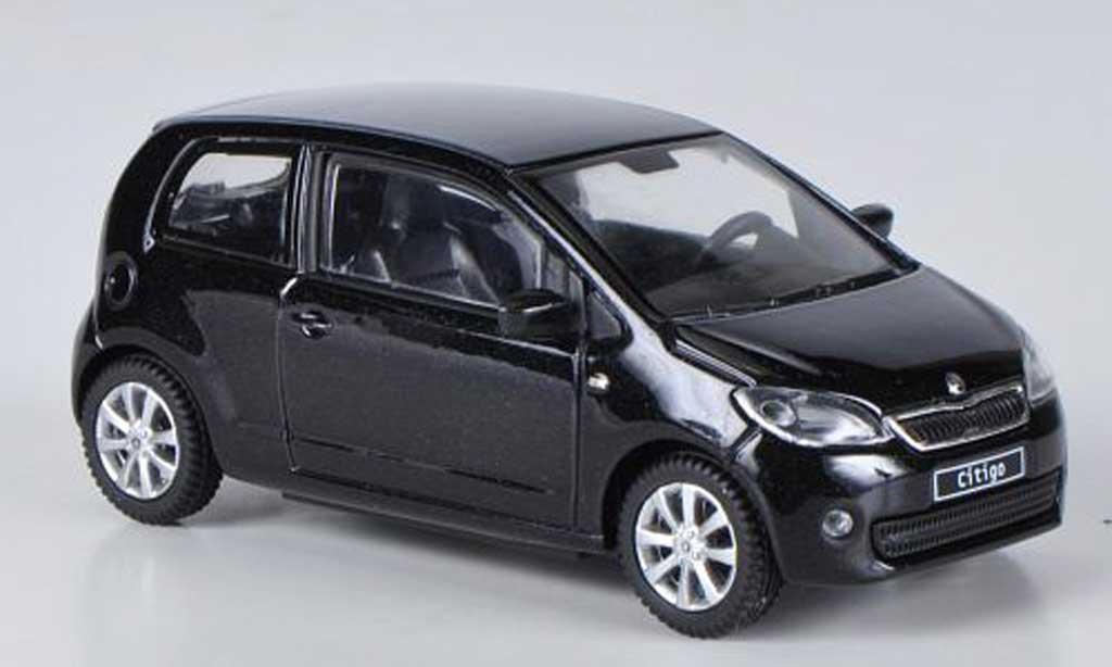Skoda Citigo 1/43 Abrex noire 3-portes 2012