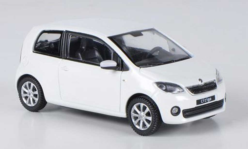 Skoda Citigo 1/43 Abrex blanche 3-portes 2012 miniature