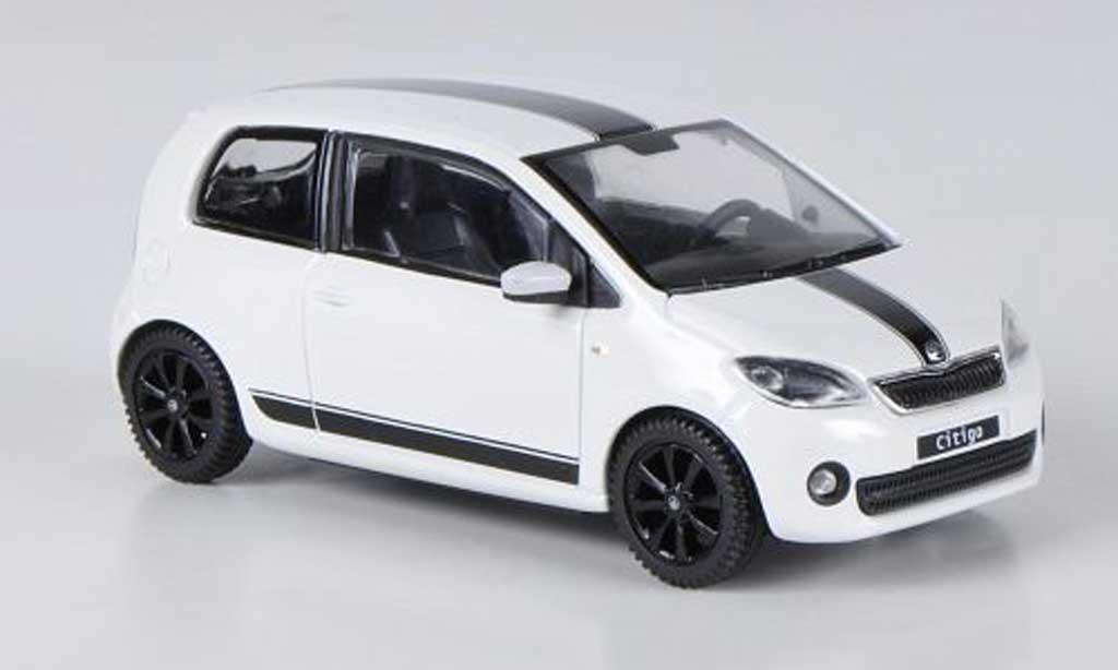 Skoda Citigo 1/43 Abrex blanche Sport Design 3-portes 2012 miniature