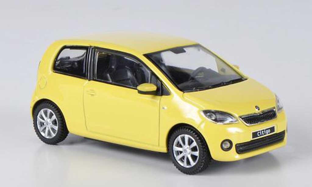 Skoda Citigo 1/43 Abrex jaune 3-portes 2012 miniature
