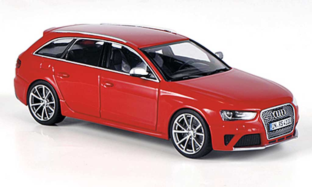 Audi RS4 1/43 Minichamps Avant (Typ B8) rouge 2012 miniature