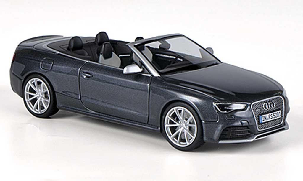Audi RS5 cabriolet 1/43 Minichamps Cabriolet grise 2012 miniature