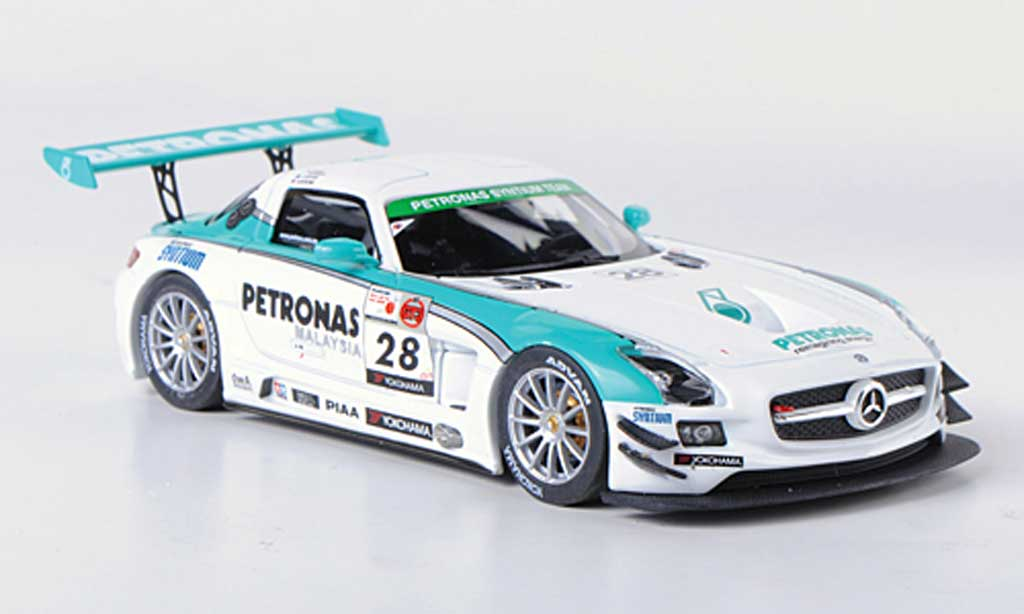 Mercedes SLS 1/43 Ebbro AMG GT3 No.28 Petronas Syntium M.Moh / T.Kataoka / J.Lester / R.Ritchie 12h Merdeka 2011 miniature
