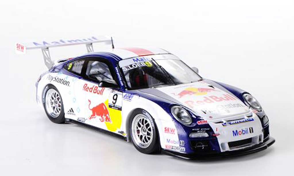 Porsche 997 GT3 CUP 1/43 Spark GT3 Cup 2012 No.9 Red Bull Team S.Loeb Racing S.Loeb Carrera Cup GP Pau miniature