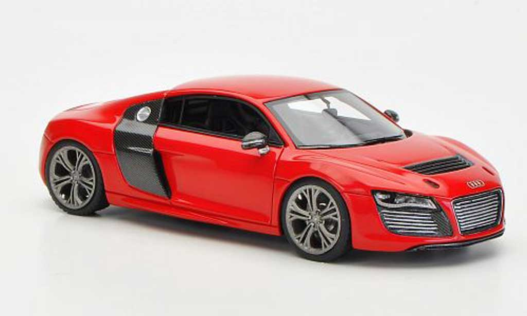 Audi R8 e-tron 1/43 Look Smart Concept red/carbonoptik diecast model cars