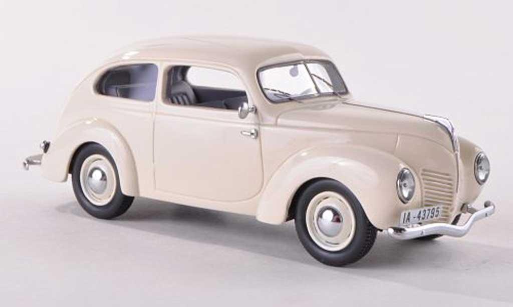 Ford Taunus 1938 1/43 Neo (G93A) blanche miniature