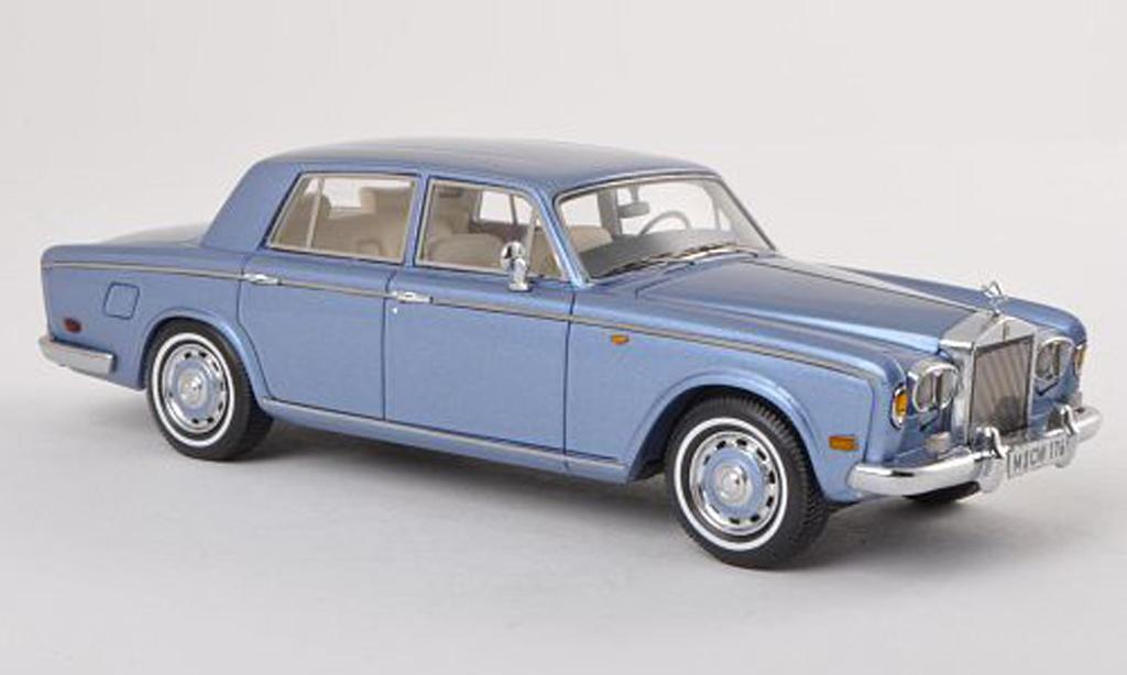 Rolls Royce Silver Shadow 1/43 Neo clair-bleu LHD limitee edition 300 piece 1974 miniature
