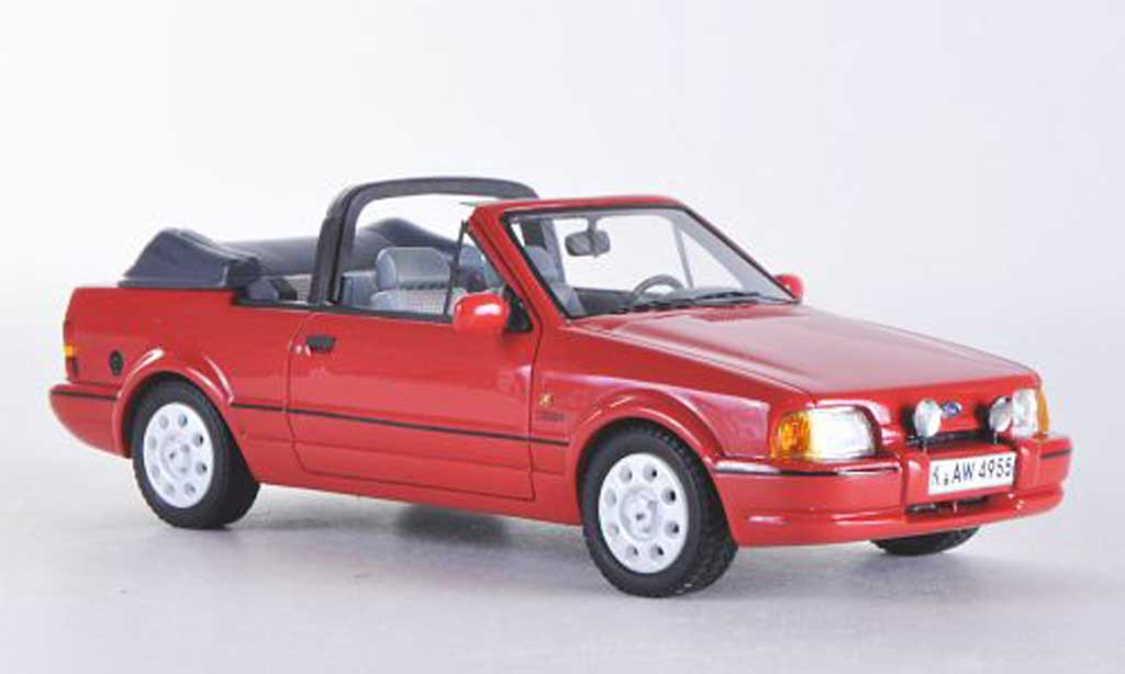 Ford Escort XR3 1/43 Neo MkIV Cabriolet rouge 1986 miniature