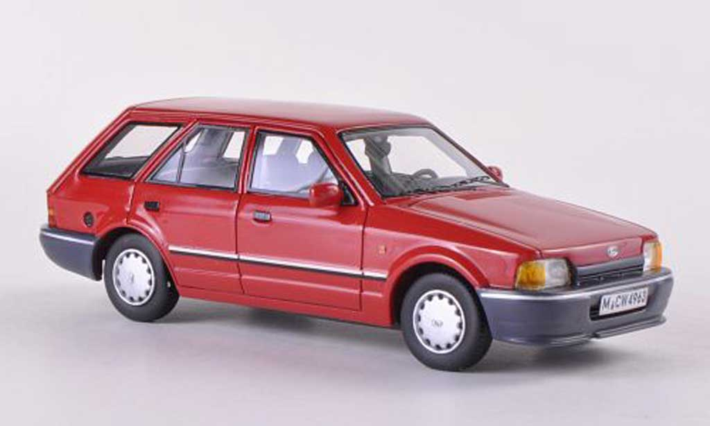 Ford Escort MK4 1/43 Neo MK IV Turnier rouge limitierte Auflage 300 Stuck  1986 miniature