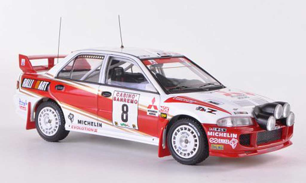 Mitsubishi Lancer Evolution III 1/43 HPI No.8 RalliArt D.Auriol / D.Giraudet Rally Sanremo 1996 miniature