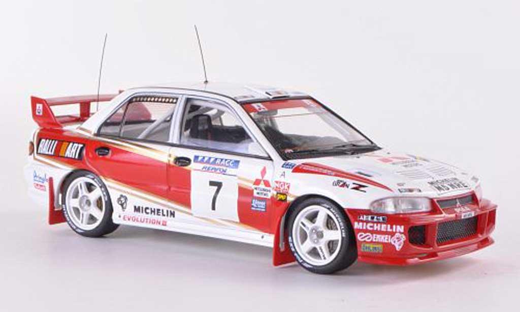 Mitsubishi Lancer Evolution III 1/43 HPI No.7 RalliArt T.Makinen / J.Repo Rally Catalunya  1996 miniature