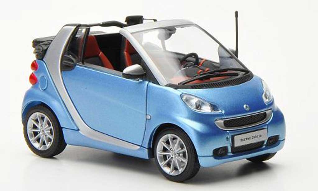 Smart ForTwo 1/43 Minichamps Cabrio bleu/grise 2010 miniature
