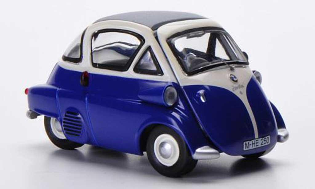 Bmw Isetta 1/43 Schuco bleu/bianca miniatura