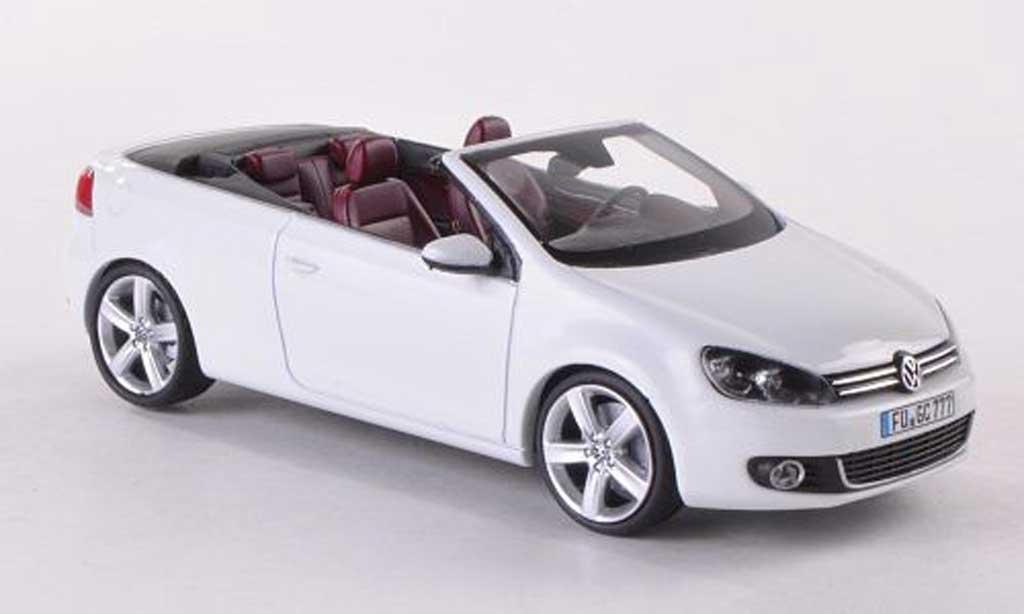 Volkswagen Golf VI 1/43 Schuco Cabrio white diecast