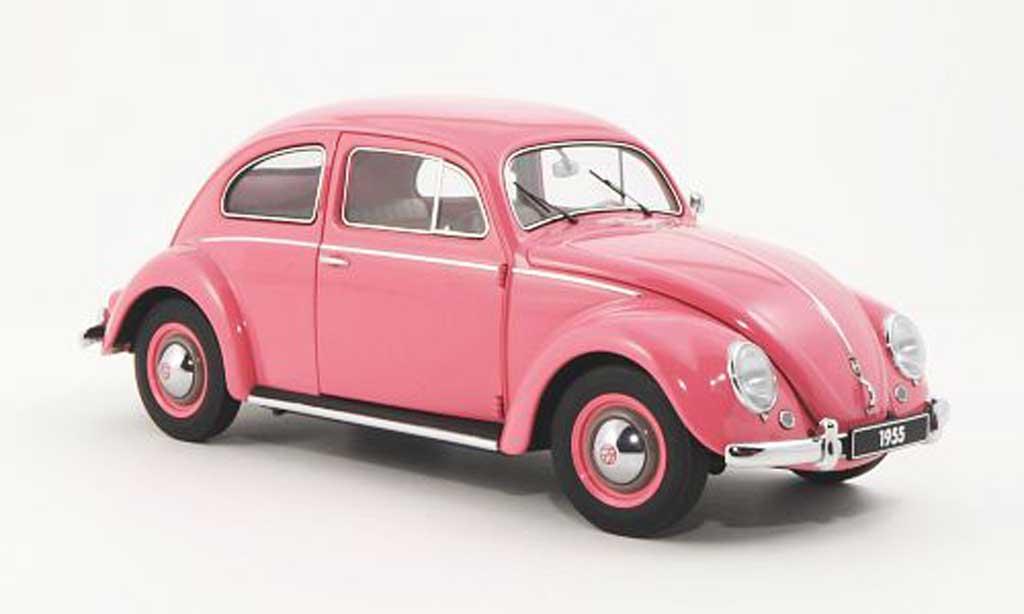 Volkswagen Kafer 1/18 Autoart pink 1955 diecast model cars