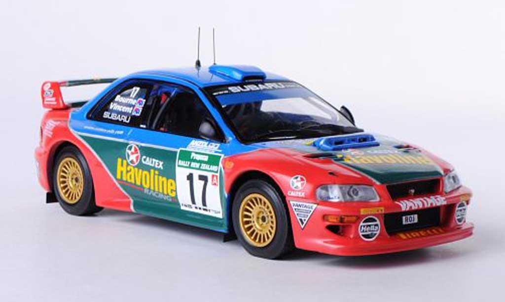 Subaru Impreza WRC 1/43 IXO No.17 Team P.Bourne / G.Vincent Rally Neuseeland 2000 modellino in miniatura