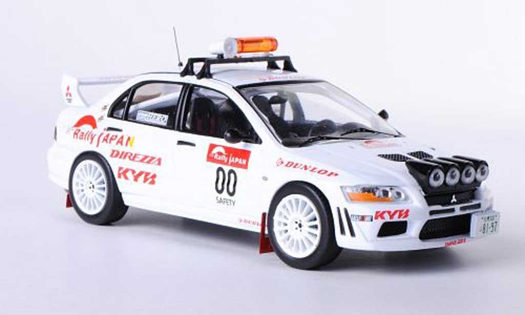 Mitsubishi Lancer Evolution VII 1/43 IXO No.00 Safety Car Rally Japan 2010 miniature